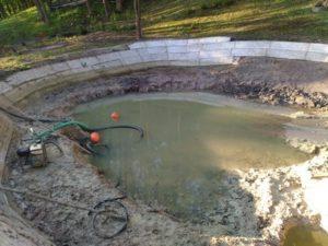 создание и углубление водоема